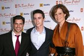 Scott Bailey with Ryan Kelley and Sigourney Weaver   at the Trevor Project's 11th Annual Cracked Xmas Fundraiser. The Wiltern Theatre, Los Angeles, CA. 12-07-08
