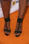 Fantasia Barrino's shoes   at the Trevor Project's 11th Annual Cracked Xmas Fundraiser. The Wiltern Theatre, Los Angeles, CA. 12-07-08