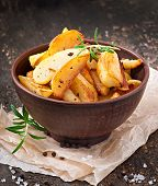 French fries potato wedges