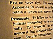 Dictionary Prosecute