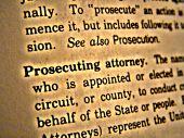 Dictionary Prosecuting Attorney