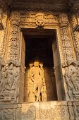 Sculptures Of Lord Krishna, Chaturbhuj Temple, Khajuraho, India,