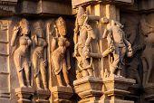Apsaras And Surasundaris, Sculptors ,khajuraho,  India,