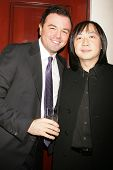 Seth MacFarlane and Wayne Kao   at Flaunt Magazine's 10th Anniversary Party And Holiday Toy Drive. W