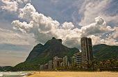Tropical Sao Conrado Beach in Rio de Janeiro