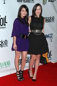 Emma Roberts and Zelda Williams  at the Gridlock New Year's Eve Party. Paramount Studios, Hollywood, CA. 12-31-08