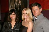 Jessica Alba with Jaime King and Jensen Ackles  at the Los Angeles Special Screening of 'My Bloody Valentine 3D'. Mann's Chinese Six, Hollywood, CA. 01-08-09