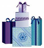 Blue Christmas Presents