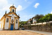 Baroque Church In Ouro Preto, Brazil