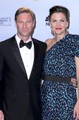 Aaron Eckhart and Maggie Gyllenhaal in the press room at the 66th Annual Golden Globe Awards. Beverly Hilton Hotel, Beverly Hills, CA. 01-11-09
