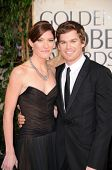 Jennifer Carpenter and Michael C. Hall at the 66th Annual Golden Globe Awards. Beverly Hilton Hotel, Beverly Hills, CA. 01-11-09
