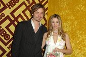 Christopher Backus and Mira Sorvino  at the HBO Golden Globe Awards After Party. Circa 55 Restaurant, Beverly Hills, CA. 01-11-09