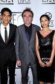 Dev Patel with Danny Boyle and Freida Pinto  at the 34th Annual Los Angeles Film Critics Awards. Intercontinental Hotel, Century City, CA. 01-12-09