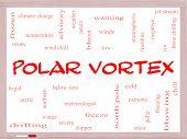Polar Vortex Word Cloud Concept On A Whiteboard