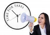Announcement Of Time For Taxes