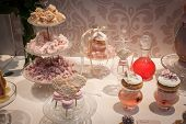 Elegant Small Cakes On Display At Homi, Home International Show In Milan, Italy