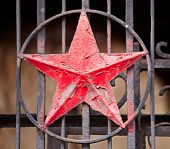 picture of iron star  - Photo of a iron Red Star Socialist