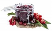 Isolated Red Currant Jam