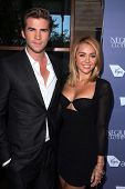 Liam Hemsworth, Miley Cyrus at the Australians in Film 8th Annual Breakthrough Awards, Hotel Interco