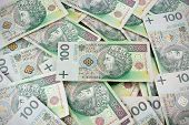 Seamlessly Tileable And Repeatable 100's Pln (polish Zloty) Currency
