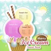Ice Cream Menu Cover