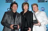 Rascal Flatts  in the press room at the 2008 American Musica Awards. Nokia Theatre, Los Angeles, CA.
