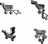 Carrinhos 3D e o Cursor de seta