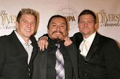 Kenny Johnson with Gregory Cruz and Bailey Chase  at the Multicultural Motion Picture Association's 16th Annual Diversity Awards. Globe Theater, Universal City, CA. 11-23-08