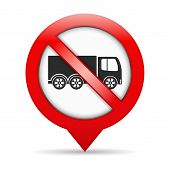 foto of truck-stop  - No trucks sign - JPG