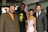 Joel Silver and Idris Elba with Thandie Newton and Gerard Butler  at the Los Angeles Premiere of 'Rocknrolla'. Pacific Cinerama Dome, Hollywood, CA. 10-06-08