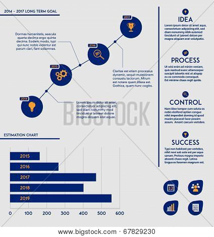 Business marketing plan template - future goal charts, diagrams and ...