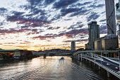 Sunset over the Brisbane River