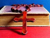Christian Cross On A Book