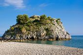 pic of bluff  - Bluff with selvatic vegetation in Mediterranean sea - JPG