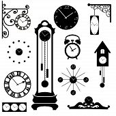 clock and watch collection, black interior element