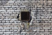 Vintage Brick Wall With Ventilation