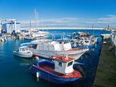 Panoramic view of Monopoli seaport. Apulia.