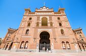 Famous Bullfighting Arena In Madrid. Plaza De Toros De Las Ventas,on April 13, 2013 In Madrid, Spain