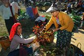 Traditional Market At Inle Lake,Myanmar.