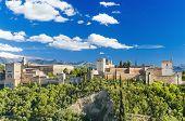 Famous Alhambra palace Granada Spain.