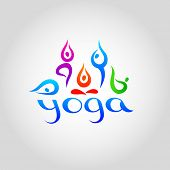 Yoga. Vector logo template for schools of yoga.