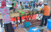Traditional Islamic pancake shop Malaysia