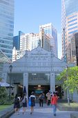 Raffles Place MRT station Singapore