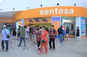 Sentosa Island entrance ticket office Singapore
