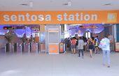 Sentosa Island train station Singapore