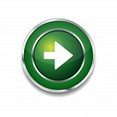 Right Key Circular Vector Green Web Icon Button