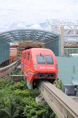 Monorail in Sentosa island Singapore