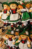 Souvenir Dolls Wearing  Austrian Traditional Costume