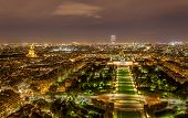 Tour Montparnasse And Ecole Militaire As Seen From Eiffel Tower. Paris, France