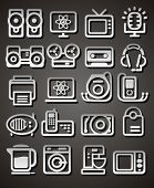 Media And Household Appliances Icons